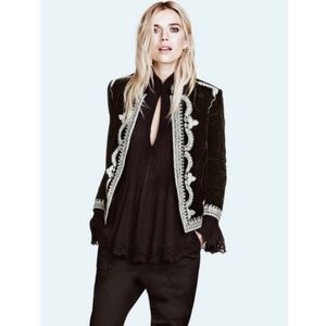 H&M Autumn Collection Velvet Embroidered Jacket